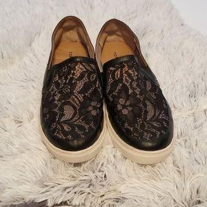 Torrid Black Lace Slip-On Sneakers